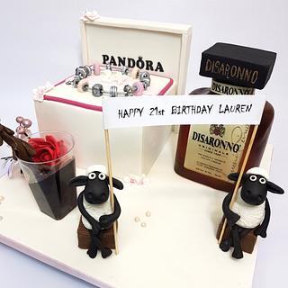 Pandora box birthday cake