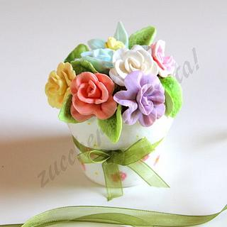 Mini cake - flower pot