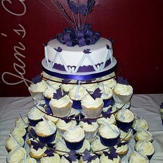 Butterflies and Hockey sticks Wedding ensemble