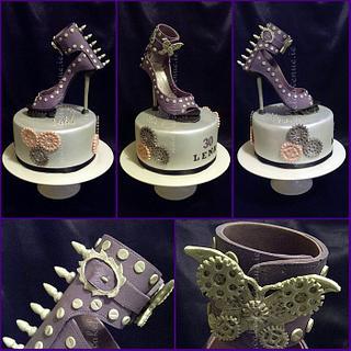 STEAMPUNK SHOE CAKE