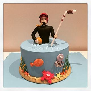 Scuba & Ice Hockey Player Cake - Cake by CakeHeavenTr