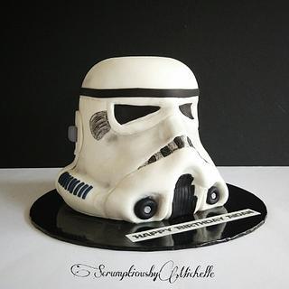 Storm Trooper helmet cake - Cake by Michelle Chan