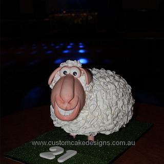 Sheep Cake - Cake by Custom Cake Designs