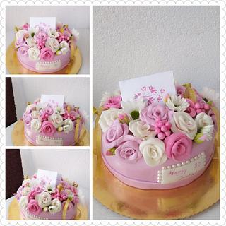 #flowercake #flowerboxcake