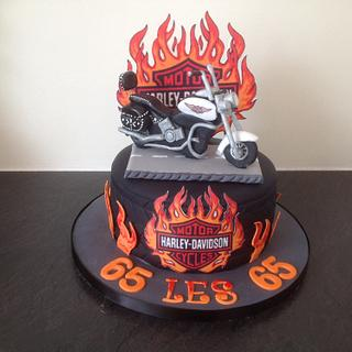 Harley motor bike - Cake by Suzanne