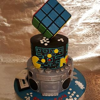80th theme cake
