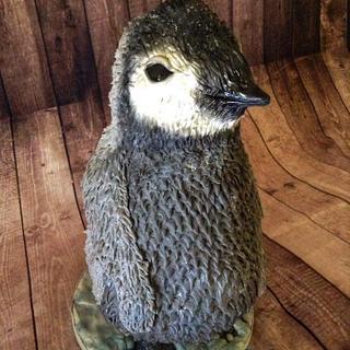 Percy the baby emperor penguin.