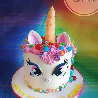 Unicorn Rainbow Cake - Cake by Savitha Alexander