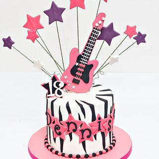 Rockstar themed cake