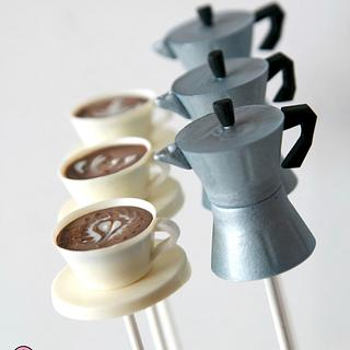 Moka™ pot cake-pops with cappuccino cake-pops