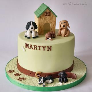 Dog Family - Cake by The Custom Cakery