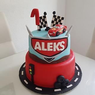 Cars - Cake by Azra Cakes