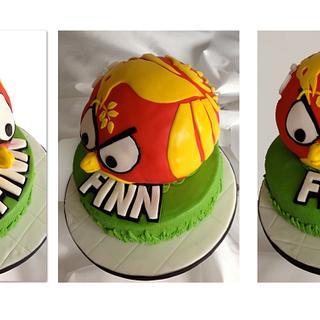 Liverbird meets Angrybird  - Cake by Alicia's CB