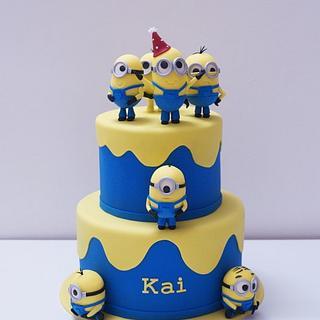 Minions cake - Cake by Betsy Vergara Pitot