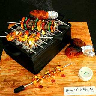 Barbecue Grill Cake