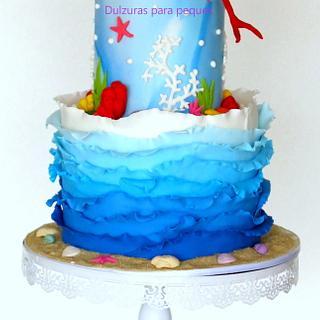 Sea cake - Cake by Romina Haiek