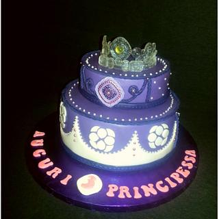 Astonishing Princess Sofia Birthday Cake 10 Cakes Cakesdecor Personalised Birthday Cards Arneslily Jamesorg