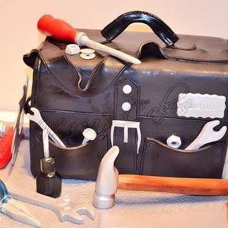 Tools bag cake
