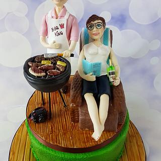 Joint 60th cake