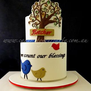 Tree of Life Baptism Cake