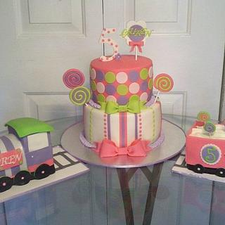 Lollipop Cake and Candy Train