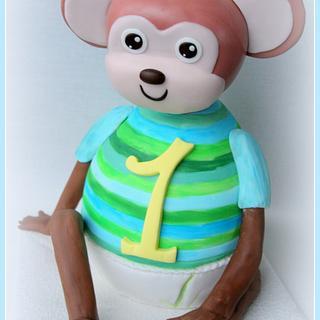 Monkey cake for little boy's birthday.