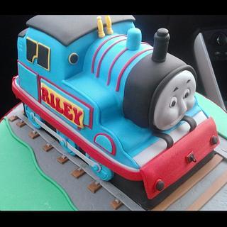 Thomas the tank engine birthday cake.