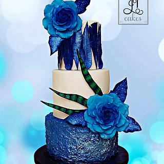 Metallic Blue - Arturo Rios - Royal Ascot Cake collaboration