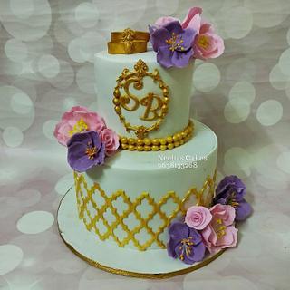Engagement cake - Cake by Thehomecakestudio