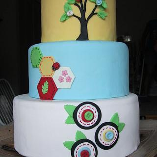 Stitch Cake - Cake by the cake trend Elizabeth Rodriguez