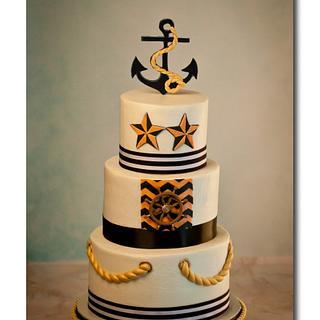 Nautical Wedding Cake - Cake by Jan Dunlevy