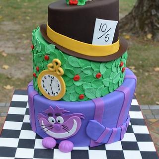 Alice in Wonderland Cake - Cake by Elisabeth Palatiello