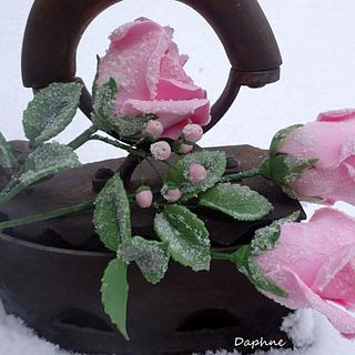 Ice sugar roses ❤️