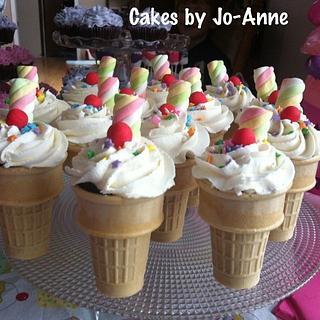 Ice Cream Cone Cupcakes!