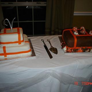 My first Wedding and Grooms cake - Cake by Dana