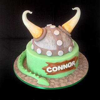 How to train your dragon inspired cake