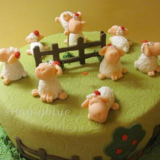 The sheep - Cake by simplyblue