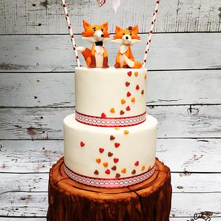 Fall in love weddingcake