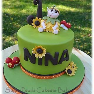 Sunflower Fairy Birthday Cake