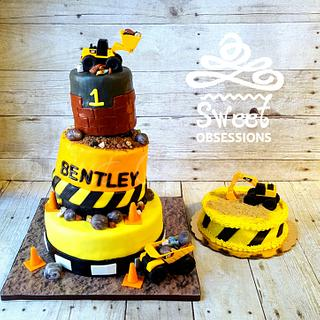 Topsy Turvy Construction  - Cake by Sweet Obsessions Cake Co