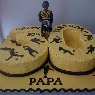 Kaizer Chiefs soccer birthday cake - Cake by Maggie Visser