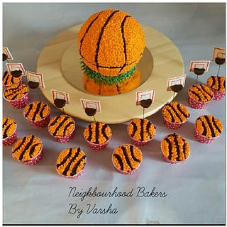 Basket ball theme cake