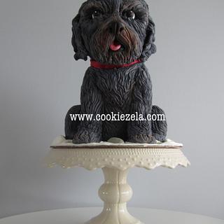 3d Dog Sculpted Cake