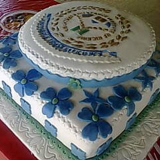 Insurance logo cake - Cake by Bisi Akanbi