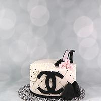 Chanel bridal shower cake