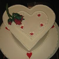 Valentines Day cake dummy