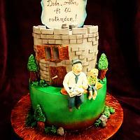 Grandfather birthday cake