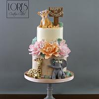 Safari woodland cake mix