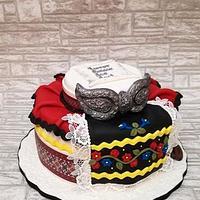 Ethno motives cake