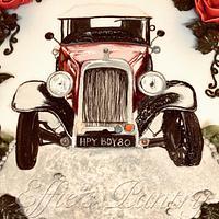 Austin car cake